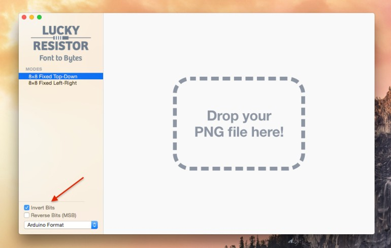 New Invert Bits Checkbox