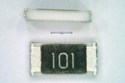 Resistor with 1206 package. Dimensions are 3.2 mm × 1.6 mm.