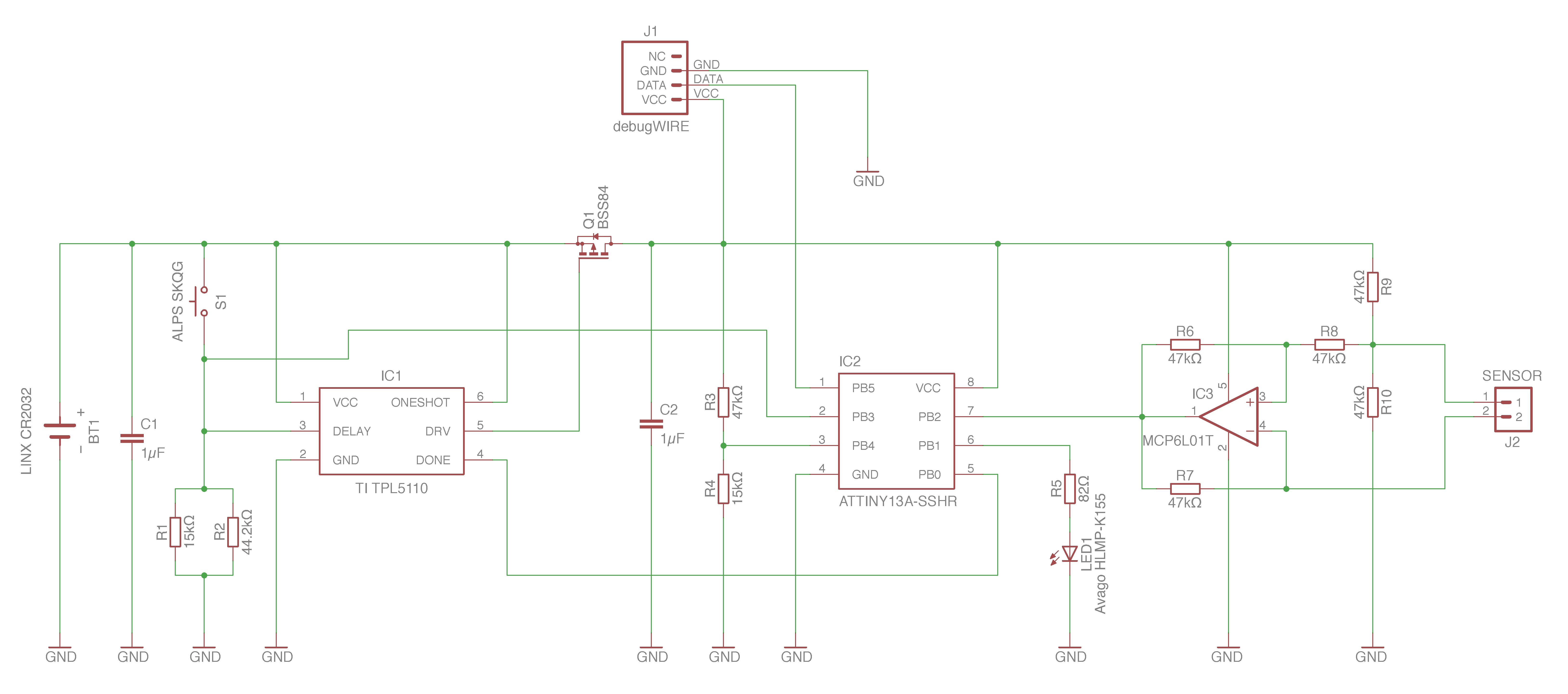 How To Design A Cheap Plant Watering Sensor Part 1 Lucky Resistor Low Battery Indicator Circuit Plantsensor Schema